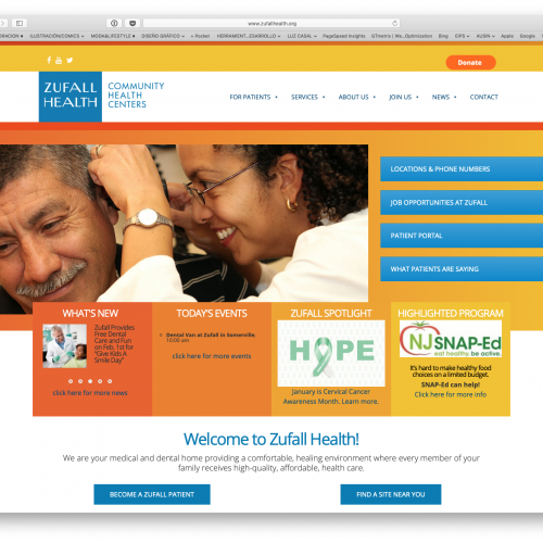 Zufall Healthcare NJ - Website & SEO